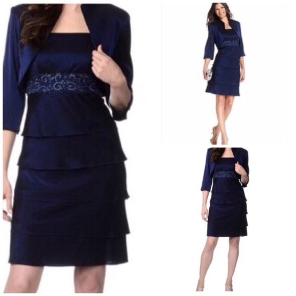 dae44a4b7252 RM Richards Tiered Mother of Bride Dress Jacket 16.  M_5b00bc483800c5c26a3e769d